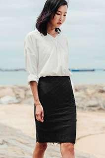 Fashmob Gale Lace Skirt in Black