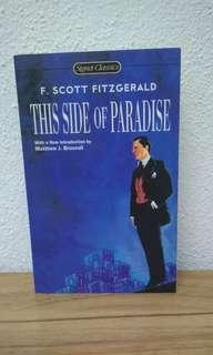 THIS SIDE OF PARADISE by F . SCOTT FITZGERALD