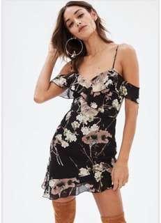 Missguided offshoulder floral dress