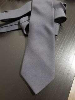 Charcoal Grey Solid Challis Wool Tie