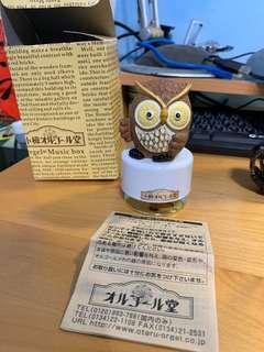 🚚 日本原裝貓頭鷹音樂盒