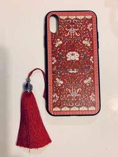 iphone x phone chinese style red color case 中國特色紅色電話殼