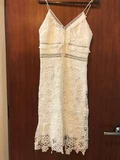 Goldie White Lace Dress