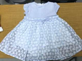 Chickeeduck Baby Blue Dress size100