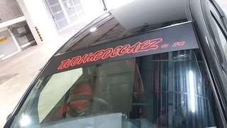 Car sunshade windscreen
