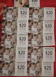 🚚 Mothercare Vouchers @ 20% discount