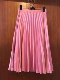 Topshop Petite Pink Pleated Skirt