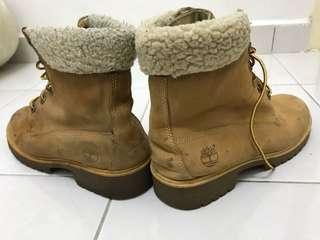 Women Timberland Yellow Boots Size 6