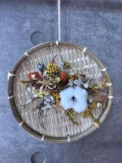 Dried and Preserved Flowers Bamboo Decor