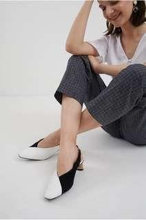 Musee Decyta Two Tone Heels Black White