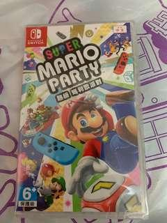 Switch Game Mario Party 全新未開