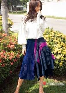 日本 zozotown 購回 全新 rienda 新款 lace 拼接 立體 半截裙 低於三折放售