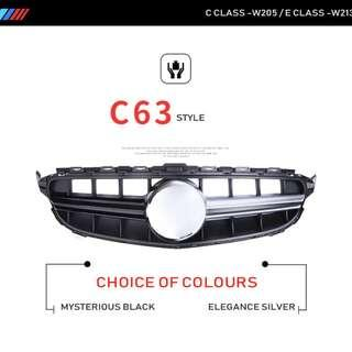 C63 /E63 Style front grille for W205 and W213  (Cash and Carry only)