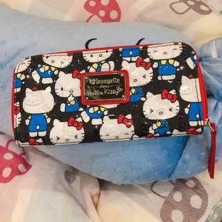 🚚 (全新)Hello kitty 長夾 loungefly hello kitty