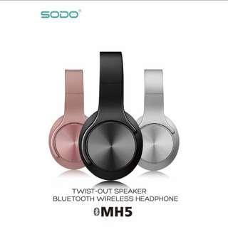 🚚 SODO MH5頭戴式無線藍芽耳機/可翻轉變喇叭音箱