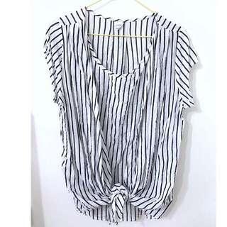 🚚 韓國棉質條文上衣