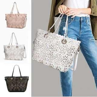 stradivarius flowers bag