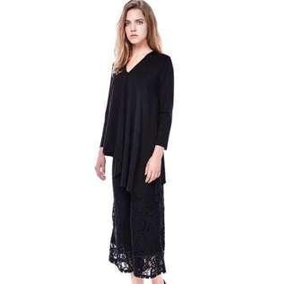 (QUICK DEAL) Editor's Market Libera Lace Culottes