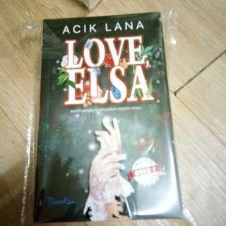 Novel limited edition Love elsa karya acik lana