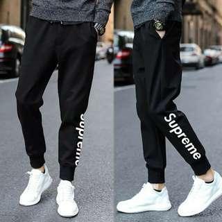 🚚 (ready stock)Black Joggers pants Sweatpants