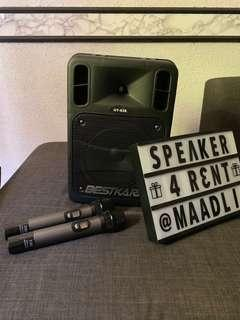 Rental Bestkara PA Audio Speaker
