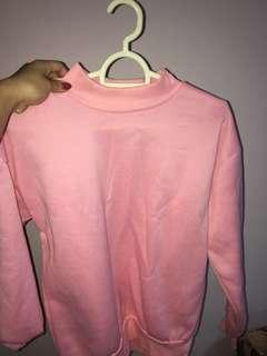 🚚 pink pullover