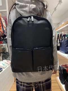 全新 Agnes b. 黑色 後背包 尼龍 防潑水 男用 包包 保證真品 正品 多隔層 輕量 日本限定 日本代購 小b.