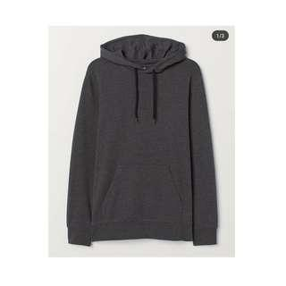 HOODY DARK GREY BY H&M