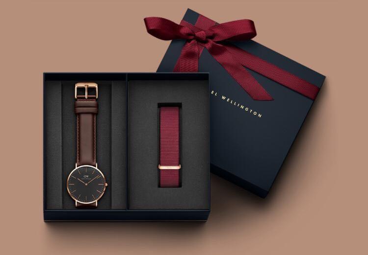 03 Terbaru | Jam Tangan Pria & Wanita DW Classic Boxset Gift Strap Leather & Canvas | Original