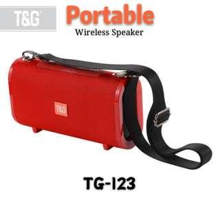 T&G TG-123 Portable Wireless Bluetooth Speaker Support TF Card FM Radio Bass