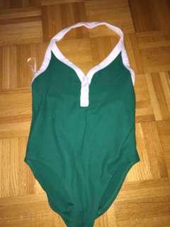 Forever 21 halter top bodysuit green