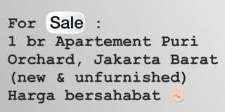 For sale NEW APARTMENT PURI ORCHARD 1 bedroOM , JUAL RUGI