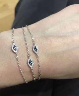 NEW Sterling Silver Evil Eye Bracelet - $25 each or 3 for $60