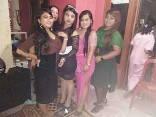 Dress Penyanyi Warna Pink / Long dress / Puring leher / Payet / Baju Penyanyi /gaun malam