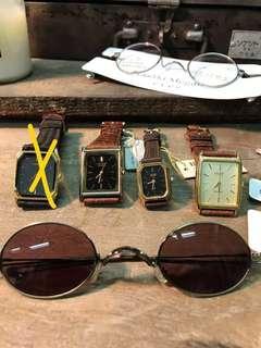 Vintage復古工業時期老件/鐘錶眼鏡/Seiko/Citizen/Orient