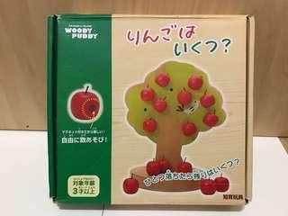 🚚 日本知育玩具 木頭蘋果樹