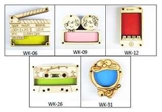 Wooden DIY keychain