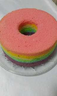 🚚 Rainbow Chiffon Cake