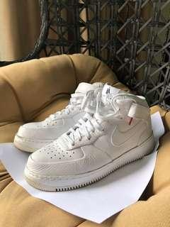 17df4b22bdd Nike Air Force 1 SP White Mid Premium Leather
