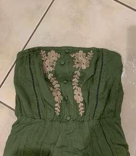 Khaki boobtube dress AU8