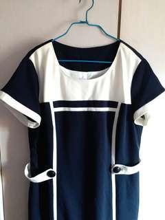 全新 斯文裙 全身裙 連身裙 一件頭 裙 New one piece dress one piece suit