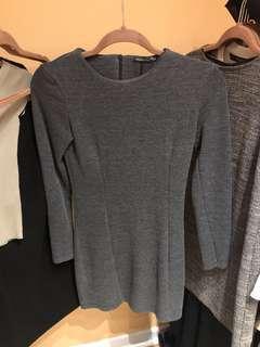 Zara grey bodycon mini dress