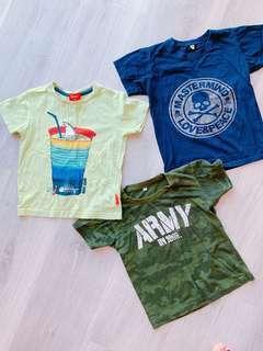 Boy Tshirt 3pcs for RM10