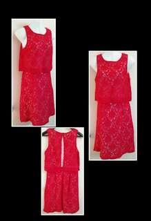 Red Lace Dress for Girls / Teenagers / Ladies