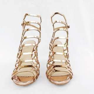 Stroppy Rose Gold Heel