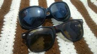 [BUY 1 GET 1 FREE] Burberry Black Sunglasses FREE RayBan Brown Sunglasses