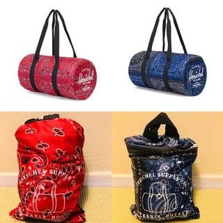 Herschel Packable Duffel Bag New