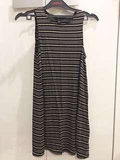 Dress stripe sleeve less forever21
