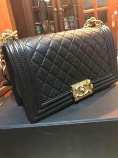 🚚 Chanel Black Caviar with GHW.
