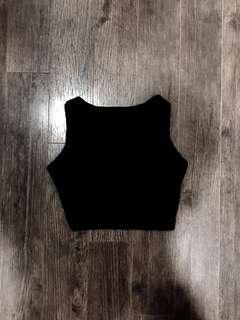 Black Cropped Top